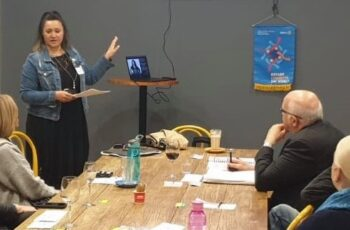 Deb presenting rotary